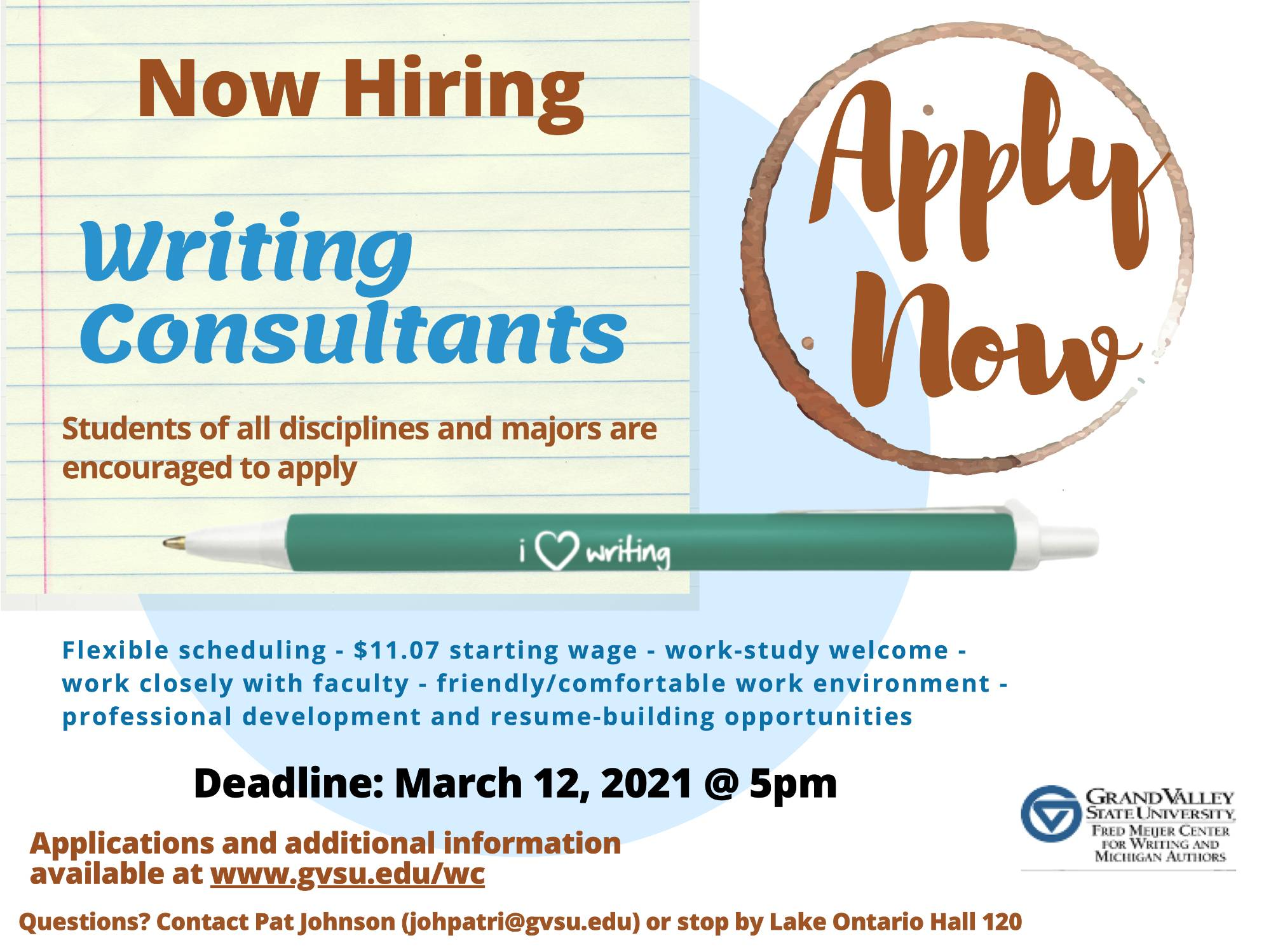 Apply to become a writing consultant
